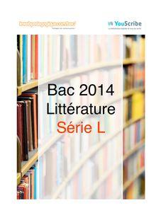 Corrigé bac 2014 - Série L - Littérature