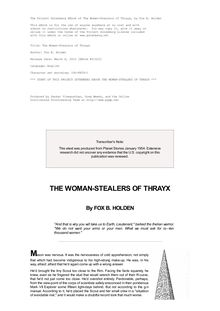 The Women-Stealers of Thrayx