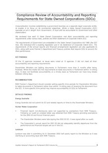 NSW Audit Office - Financial Reports – 2003 - Volume 6 – Compliance Review of Accountability and