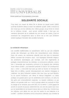 Définition et synonyme de : SOLIDARITÉ SOCIALE - Jean-Christophe MARCEL
