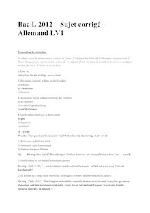 Bac 2012 L Allemand LV1