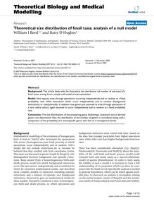 Theoretical size distribution of fossil taxa: analysis of a null model