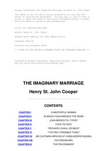The Imaginary Marriage