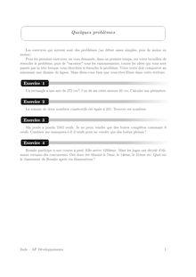Accompagnement personnalisé, Probabilités Problèmes (1)