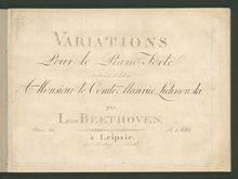 Partition complète, Eroica Variations, Fifteen Variations and a Fugue on a Theme from
