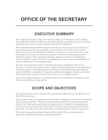 Office of the Secretary (PDF).  Audit No. 402