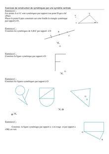Exercice de construction de symétrie centrale