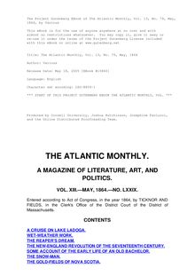 The Atlantic Monthly, Volume 13, No. 79, May, 1864
