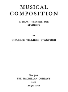 Partition Complete Book, Musical Composition, A Short Treatise for Students