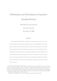 Collaboration and Networking in Cooperative