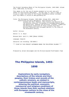 The Philippine Islands, 1493-1898 — Volume 17 of 55 - 1609-1616 - Explorations by Early Navigators, Descriptions of the Islands and Their Peoples, Their History and Records of the Catholic Missions, as Related in Contemporaneous Books and Manuscripts, Showing the Political, Economic, Commercial and Religious Conditions of Those Islands from Their Earliest Relations with European Nations to the Close of the Nineteenth Century