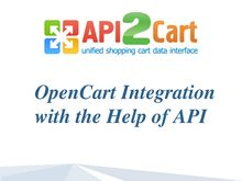 OpenCart Integration with the Help of API