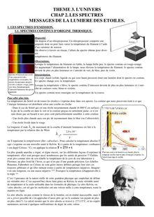 Cours de l'Univers : les étoiles - physique-chimie 2nd