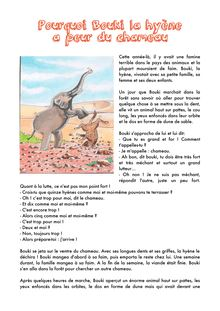 Pourquoi Bouki la hyène a peur du chameau