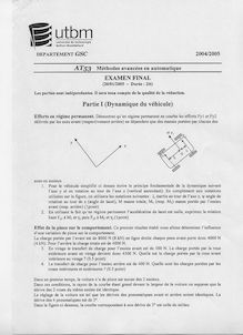 Utbm 2004 at53 methodes avancees en automatique genie electrique et systemes de commande semestre 1 final methodes avancees en automatique at53 2004 genie electrique et systemes de commande semestre 1 final