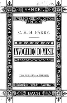 Partition complète, Invocation to music, Parry, Charles Hubert Hastings