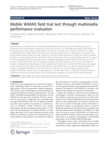 Mobile WiMAX field trial test through multimedia performance evaluation