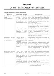 Cours de translation et vecteur