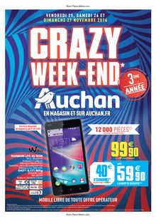 Promos du Crazy Week-end AUCHAN 2016