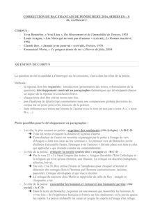 Corrigé bac 2014 (Pondichéry) - Séries ES & S - Français