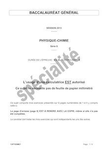 Bac 2013 S Physique spe