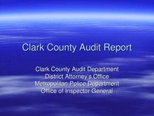 Clark County Audit Report