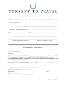 Consent to Travel