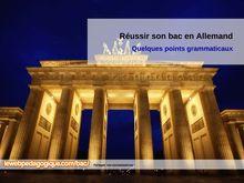 Fiches révision de la grammaire allemande