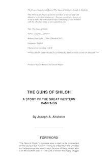 The Guns of Shiloh - A Story of the Great Western Campaign