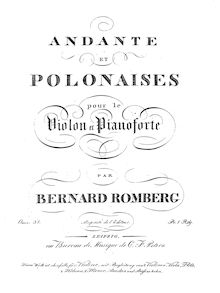 Partition Piano , partie, Andante et Polonaises, Op.32, D Major