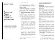 Pub 506 Taxpayers Appeal Rights of Field Audit Adjustments -- June 2009