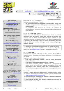 Licence mention PHILOSOPHIE Reims