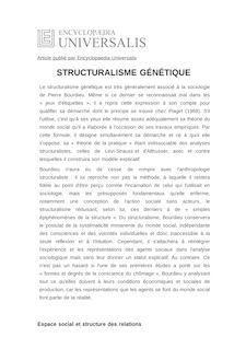 Définition et synonyme de : STRUCTURALISME GÉNÉTIQUE - REMI LENOIR