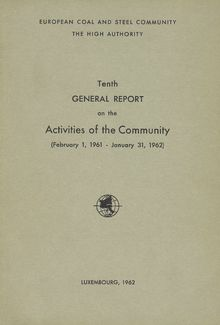 Tenth general report on the activities of the Community