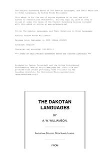 The Dakotan Languages, and Their Relations to Other Languages