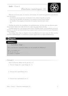 Cours et activités, Fonctions (1) Cours 2