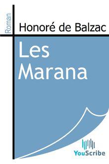 Les Marana de Honoré de Balzac - fiche descriptive