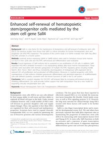 Enhanced self-renewal of hematopoietic stem/progenitor cells mediated by the stem cell gene Sall4