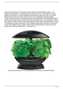 MiracleGro AeroGarden 7Pod Indoor Garden with Gourmet Herb Seed Kit Black Food Reviews