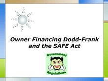 Owner Financing Dodd Frank and the SAFE Act
