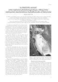 Le DALLOL revisité: entre explosion phréatomagmatique, rifting intra - continental, manifestations hydrothermales et halocinèse - Michel Detay