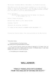 Walladmor: - And Now Freely Translated from the German into English. - In Two Volumes. Vol. II.