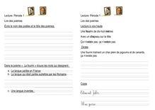 Lecture compréhension / littérature – CE1 - Isabelle lire des poèmes