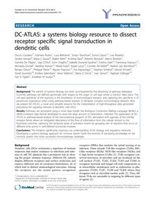 DC-ATLAS: a systems biology resource to dissect receptor specific signal transduction in dendritic cells