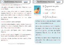 Lecture / Littérature CP et CE1 – Pipioli la terreur (P.3) - Les fiches de lecture suivie Cahier de lecture CP