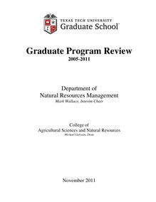 Graduate Program Review