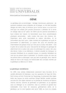 Définition de : GÈNE - Pierre SONIGO