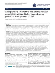An exploratory study of the relationship between parental attitudes and behaviour and young people