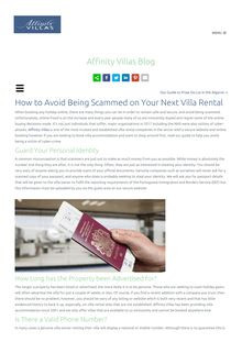 How to Avoid Being Scammed on Your Next Villa Rental