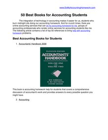 50 Best Accounting Books for Students